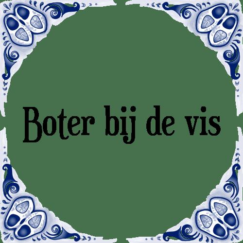 BOTER BIJ DE VISCH!